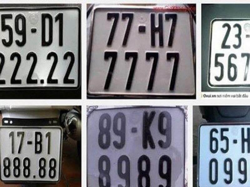 Mỗi biển số xe sẽ mang một ý nghĩa khác nhau