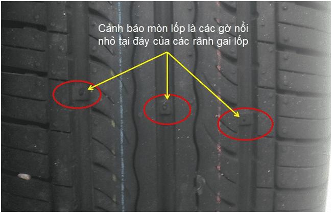 Nhận biết độ sâu rãnh lốp để xác định độ mòn lốp