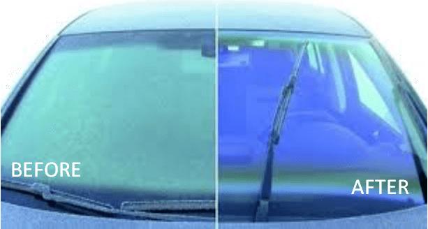 Khác biệt rõ rệt trước và sau khi sử dụng nước rửa kính ô tô